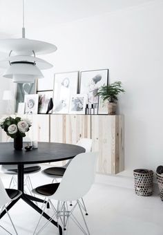 Ikea cabinets in light wood