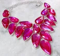 Hot pink and silver necklace #mybetsonBetts