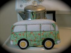 VW  Bus Potholder Flower Power by BSoriginals on Etsy, $16.00