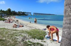 Calusa Beach at Bahia Honda State Park in the Florida Keys.mile marker guide