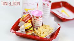 how to: miniature food from In-N-Out Burger