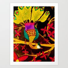 sous-bois Art Print by sylvie demers - $15.00
