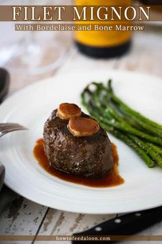 (#sponsored) We are thrilled to have partnered with Erath wines to bring you this show-stopper of a meal. We show you the tips and techniques to make the perfectly cooked beef tenderloin filet, and make an incredible French sauce, along with beef bones marrow medallions. All paired with the most delicious Pinot Noir in the world! Erath! Get the complete recipe with ALL-NEW VIDEO on the blog! #erathwines #sponsored Beef Tenderloin Filet Mignon, Beef Tenderloin Recipes, Drunken Pork Chops, Red Wine Reduction Sauce, Bordelaise Sauce, Roasted Bone Marrow, French Sauces, Beef Filet, Easy Food To Make