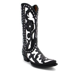 "Old Gringo 13"" Jude Boot in Black and White at Maverick Fine Western Wear"