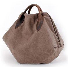 two ways brown canvas messenger bag clutch bag by Leizistudio