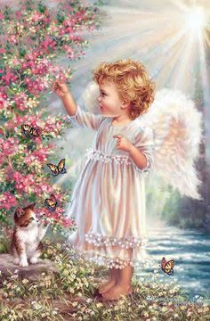 This is a beautiful angel print I found online. Angel Images, Angel Pictures, Beautiful Angels Pictures, Baby Engel, Angel Wallpaper, I Believe In Angels, Angels Among Us, Angels In Heaven, Guardian Angels