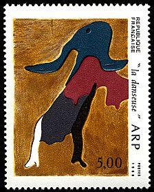 Jean Arp - «La danseuse» - Timbre de 1986