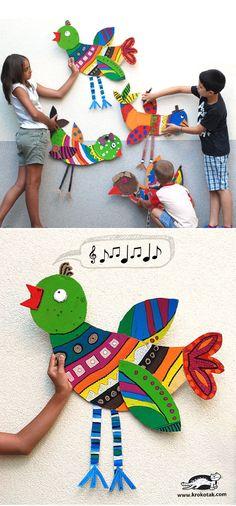 DIY Big Cardboard Birds