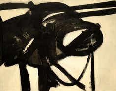 Franz Kline (American, Chief, Oil on canvas. David M. The Museum of Modern Art, New York. © 2010 The Franz Kline Estate; used with permission Franz Kline, Action Painting, Painting Lessons, Painting Art, Online Painting, Willem De Kooning, Tachisme, Mark Rothko, Abstract Expressionism