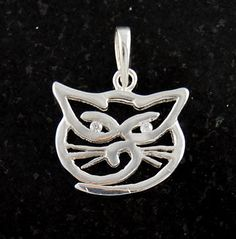 Sterling Silver Cat Necklace Pendant Charm .925 Solid Jewelry I Love My Cat $9.18