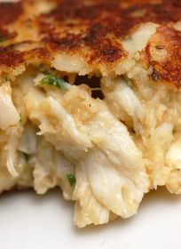 Sugar & Spice by Celeste: Crazy-Good Crab Cakes!  Sub out white bread for brown, and geek yogurt instead of mayo