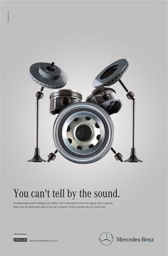 Publicité - Creative advertising campaign - Mercedes-Benz: You can't tell by the sound Clever Advertising, Advertising Poster, Advertising Campaign, Advertising Design, Marketing And Advertising, Online Marketing, Guerilla Marketing, Ads Creative, Creative Design