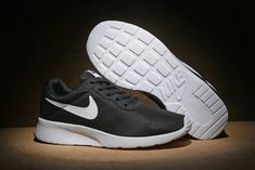 wholesale dealer 3d683 a3100 Hot Sale Walk Runing New Nike Tanjun SE Womens Black Pewter White Mesh  Running Shoes