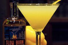 Belgin:  Ingredients 1 1/2 oz Slow Burn Smoke Gin Liqueur 1 oz Wheeler's Western Dry Gin 1 oz lemon juice 1 oz celery juice 1/2 oz yellow bell pepper simple syrup