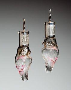 Josee Desjardins  Sterling silver, ancient Christmas bulbs