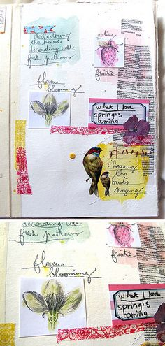 caroline rondel | Carnet de printemps - squares {pretty arty} http://www.flickr.com/photos/grrlscrap/sets/72157603650412377/