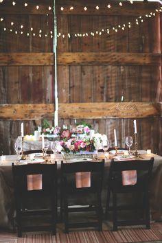 Rustic wedding tables!