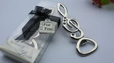 FREE SHIPPING+New Wedding Favors Silver Musical Note with Rhinestone Wine Bottle Openers Bridal Shower Party Souvenir+150pcs/Lot