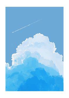 by Aofuji Sui Kunst Inspo, Art Inspo, Art And Illustration, Anime Kunst, Anime Art, Desu Desu, Posca Art, Arte Sketchbook, Scenery Wallpaper