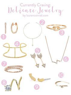 Currently Craving: Delicate Jewelry   Lauren Conrad   Bloglovin'