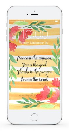 Over 750 beautiful wallpapers that inspire. Every Day Spirit Lock Screens. Love. Peace. Gratitude. Kindness. See more at ~ www.everydayspirit.net xo