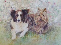 Puppy love. Watercolour and pencil. Melhillswildart