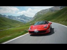 Ferrari 458 Spider on the Stelvio Pass - CAR and DRIVER - Jethro Bovingdon, Car and Driver's European correspondent, drives the Ferrari 458 Spider one of Italy's most famous roads - the Stelvio Pass Ferrari 458, Used Cars Movie, Chesapeake Bay Bridge, Dangerous Roads, Travel List, Travel Europe, First Car, Car Videos, Car And Driver