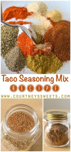 DIY Homemade Taco Seasoning Mix Recipe for your next Taco Dinner - Better than store bought seasoning mixes!