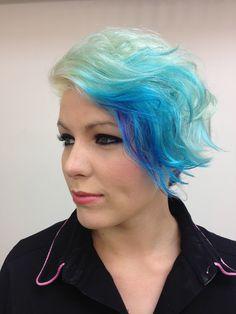 #rockstar #aqua #blue #purple #Blonde