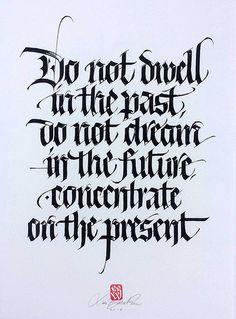 Past/Present. | por Luca Barcellona - Calligraphy & Lettering Arts