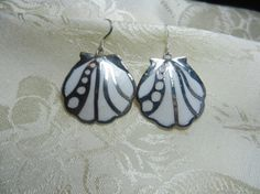 Moon Scallop Shell Earrings by TheSaltyShell on Etsy, $22.00