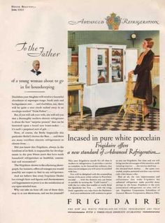 Vintage Household Ads of the (Page 1930s Kitchen, Vintage Kitchen Appliances, Loose Lips Sink Ships, Vintage Ads, Sinks, White Porcelain, Housekeeping, Refrigerator, Household