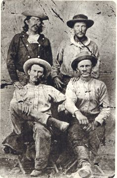 Here are some some men reputed to be Pony Express riders in the mid 1860s