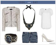 Start your work week right with this rockin' Mango denim and white outfit. Mango Looks, Mango Clothing, Mango Fashion, Classy And Fabulous, White Outfits, Fall Looks, Fashion Outfits, Womens Fashion, Timeless Fashion