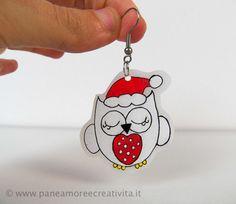 Idee regalo Natale fai da te: orecchini a forma di civetta