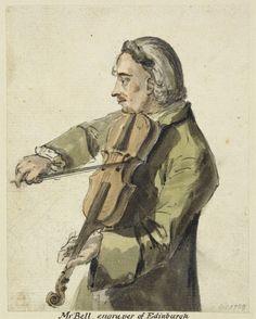 Paul Sandby (1731-1809) A violin player c. 1750  RCIN 914336