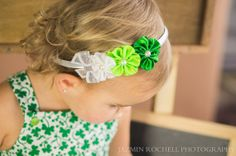 St Patrick's Day Headband for a little girl.  Ralph S. Zotovich, DDS - pediatric dentist in San Jose, CA @ www.dds4kids.com