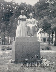 This is a statue of the Lincoln's by the sculptor Frederick C. Hibbard of Chicago. It stands in East Park, Racine, Wisconsin where it was dedicated on July 4, 1943. The gift to the city was made by Miss Lena Rosewall whose estate is the home of the statue.