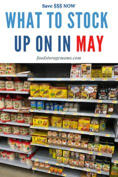 This is my monthly series on What To Stock Up On In May today. I started my monthly bargain tips in January. Heres the deal we all want to stock up on items when they are priced well below the regular price. Emergency Preparedness Food Storage, Emergency Preparation, Emergency Supplies, Survival Prepping, Doomsday Prepping, Survival Shelter, Homestead Survival, Frugal Living Tips, Frugal Tips
