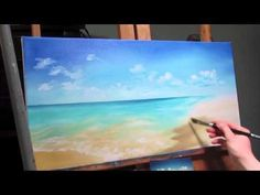 New Painting Beach Acrylic Art Lessons Ideas Acrylic Painting Lessons, Acrylic Painting Tutorials, Painting Videos, Painting Techniques, Painting & Drawing, Painting Tips, Beginner Painting, Painting Abstract, Beach Drawing
