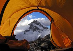 Photo: A tent view Aconcagua, Argentina