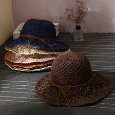 6ab14347 Newest Hot Stylish Women Ladies Wide Large Brim Cap Floppy Fold Summer Beach  Sun Straw Beach Weave Hat