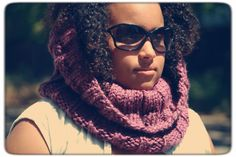 Rose Flavored Super Chunky Hand Knit Cowl by LilRedKnittingHood, $45.00