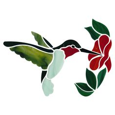 The mosaic hummingbird is made with Kokomo, Bullseye and Oceanside glass. Stained Glass Door, Stained Glass Birds, Stained Glass Suncatchers, Stained Glass Designs, Stained Glass Patterns, Fused Glass, Mosaic Birds, Mosaic Art, Mosaic Glass