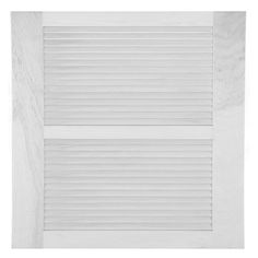 Perfect Shutters 15W in. Open Louvered Wood Shutters Primed - 1611547999C002