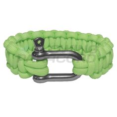 The Green Glow in the Dark Paracord Bracelet starts off with a smooth and light shade of green when you wear it during the day. When combined with the special stainless steel adjustable shackle it becomes quite a stylish fashion accessory to anyone's wardrobe. When the lights go out though, that's when the party starts! In the dark, the bracelet glows bright green that can compete with any glow stick. Everyone will notice the fancy green light glowing around your wrist, wherever you go.