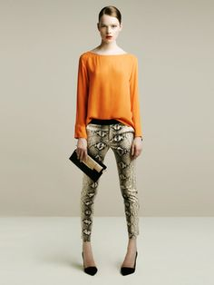 what to wear with snakeskin pants???