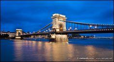 Chain Bridge at night - Budapest, Hungary Budapest Travel, Budapest Hungary, Tower Bridge, Travel Photography, River, Night, Chain, Rivers, Chain Drive