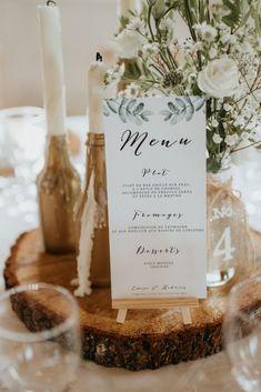 Spring menus: 35 ideas for pretty wedding tables! Wedding Table Planner, Wedding Table Numbers, Wedding Menu, Diy Wedding, Wedding Tables, Wedding Foods, Wedding Catering, Rustic Wedding, Wedding Centerpieces