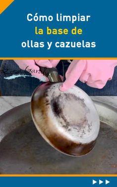 Cómo limpiar la base de ollas y cazuelas